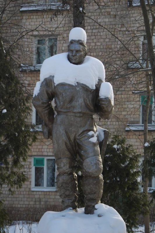 Monument to pilot Valery Chkalov