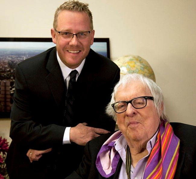 Ray Bradbury and his biographer Sam Weller