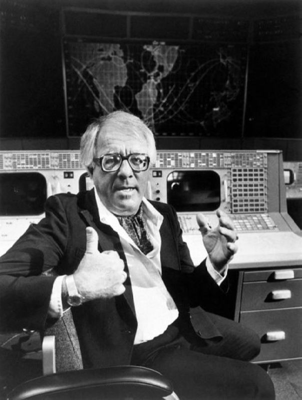 Ray Bradbury at NASA Flight Control Center