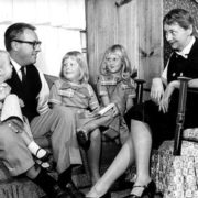 Ray Bradbury with family