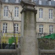 Statue of Gustave Flaubert in Luxembourg Gardens, Paris