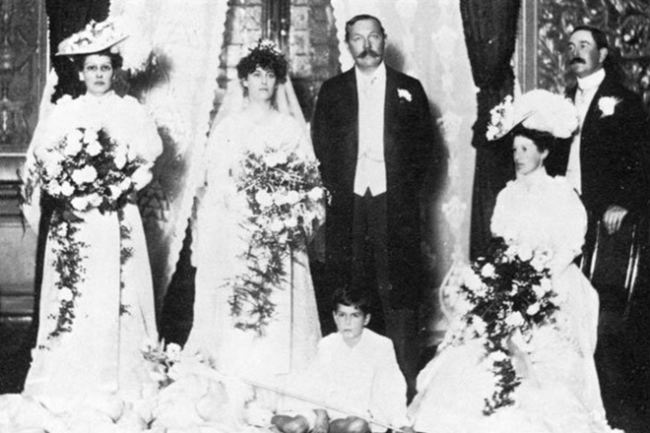 The wedding of Arthur Conan Doyle and Jean Leckie