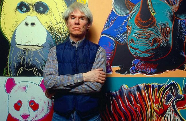 Andy Warhol and his collection of paintings Endangered species