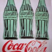 Green bottles of Coca-Cola, 1962