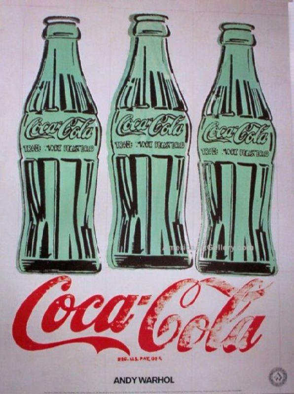 Green bottles of Coca-Cola, 1962