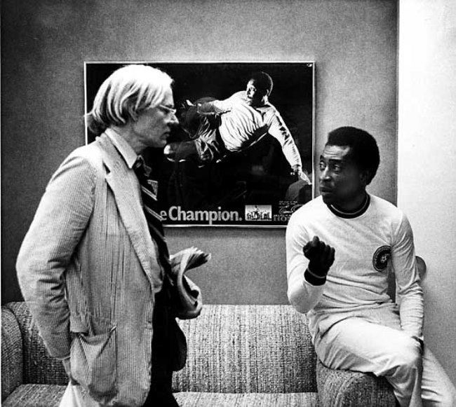 Pele and Andy Warhol