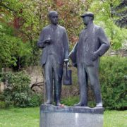Statue of Karel and Josef Capek