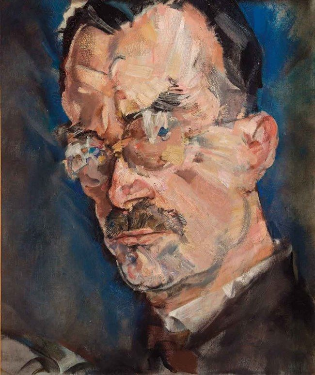 Max Oppenheimer. Portrait of Thomas Mann