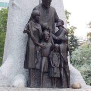 Monument to Janusz Korczak in Warsaw