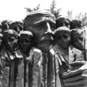 Monument to Janusz Korczak with children