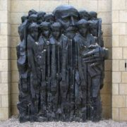 Monument to Janusz Korczak with children in Jerusalem