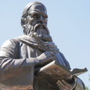 Monument to Omar Khayyam in Astrakhan, Russia
