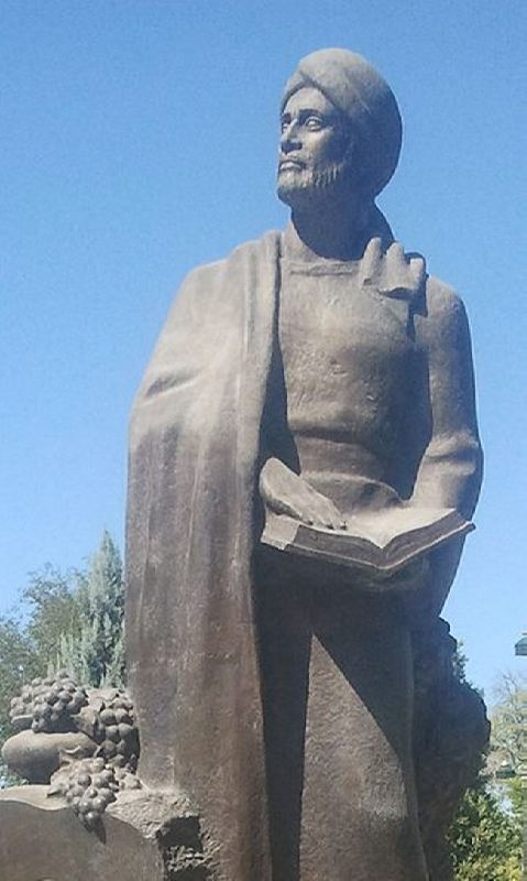 Monument to Omar Khayyam in Turkmenistan