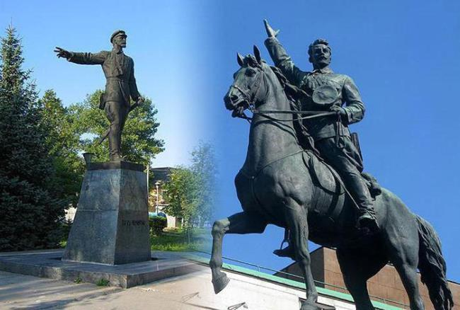 Monuments to Nikolai Shchors