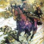 N. Shchors in the battle near Chernigov. Artist N. Samokish, 1938