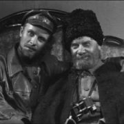 Nikolai Shchors and Vasily Bozhenko. Images from Alexander Dovzhenko's movie