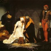 Paul Delaroche. The execution of Lady Jane Grey in the Tower of London in 1554. 1833