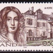 Post stamp dedicated to George Sand