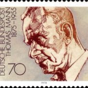 Post stamp dedicated to Thomas Mann