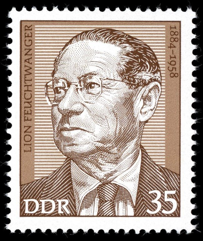 Stamp dedicated to Lion Feuchtwanger