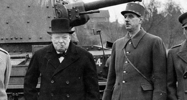 Winston Churchill and Charles de Gaulle