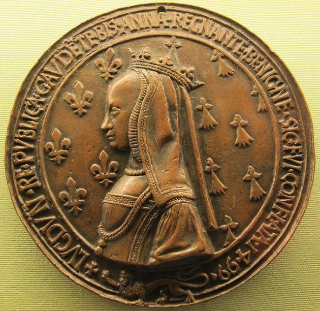 Anne of Brittany. Medal of marriage with Louis XII. 1499