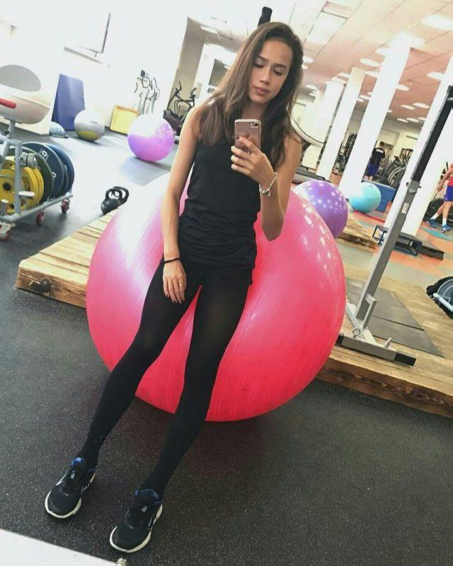 At the gym. Alina Zagitova