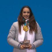Celebrated Alina Zagitova