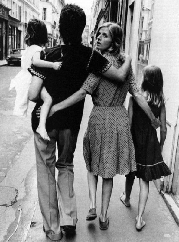 Linda McCartney with her husband Paul and daughters Heather and Mary by Alain DeJean