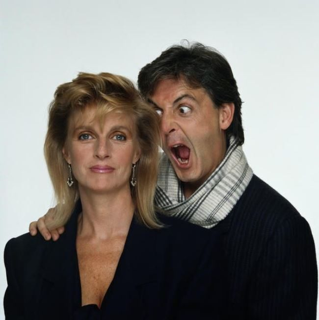 Majestic Linda and Paul McCartney