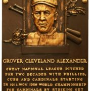Memorial plaque dedicated to Alexander Grover