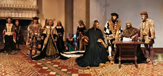 Modern installation. The marriage of Anne and Charles VIII