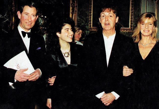 Prince Charles with Linda and Paul McCartney, 1995
