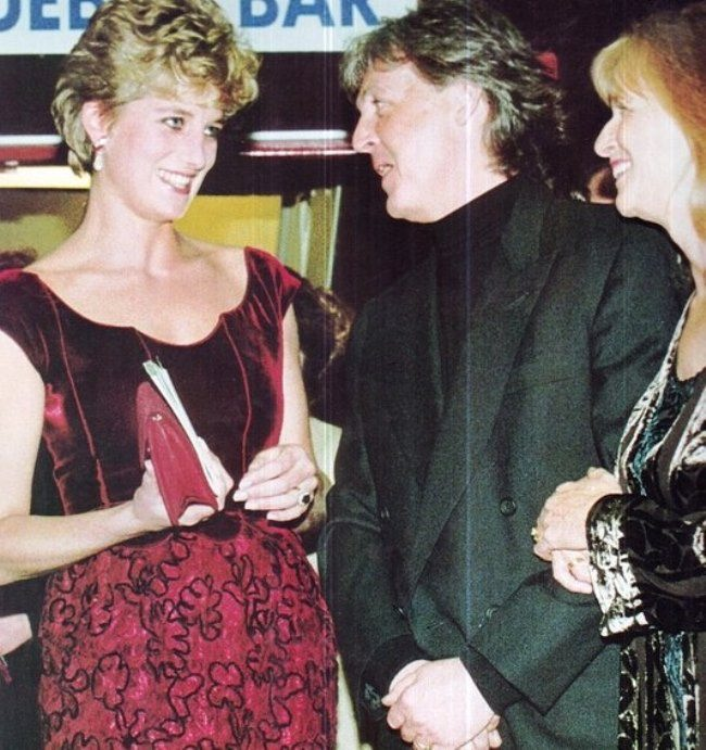 Princess Diana with Paul and Linda, 1992