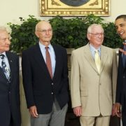 Barack Obama and Apollo 11 Crew