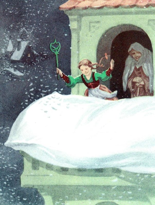 Mother Snowstorm. Illustration by V.N. Minaev