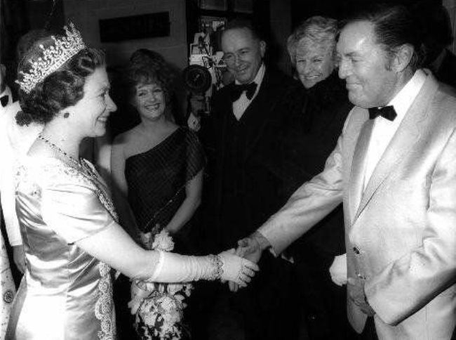 Queen Elizabeth II and Bill Haley