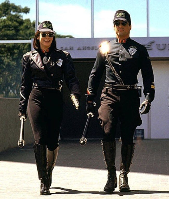 Sylvester Stallone and Sandra Bullock