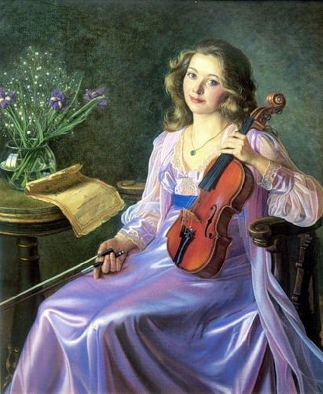 Alexander Shilov. Portrait of Julia Volchenkova