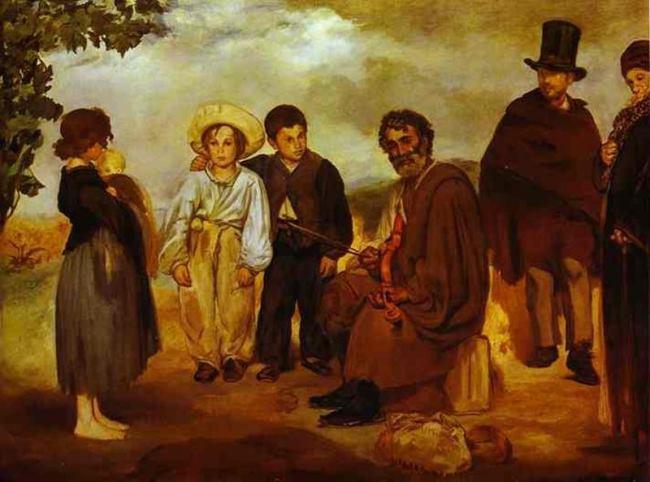 Edouard Manet. An old musician