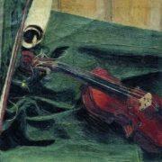 Ivan Semenovich Kulikov. Still life with a violin