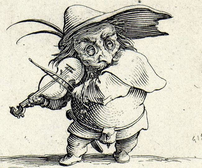 Jacques Callot. Violinist
