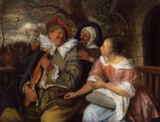 Jan Steen. The robbed violin player