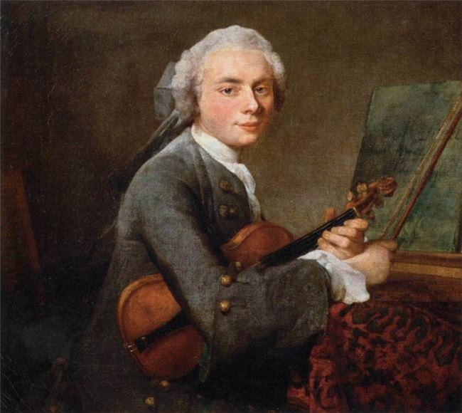 Jean Baptiste Simeon Chardin. A young man with a violin