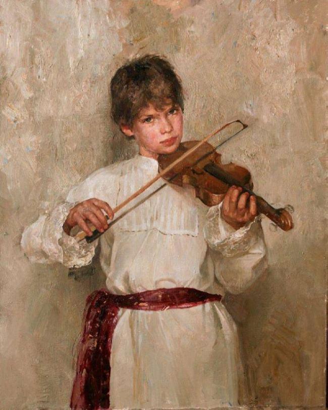 Natasha Milashevich. Violinist