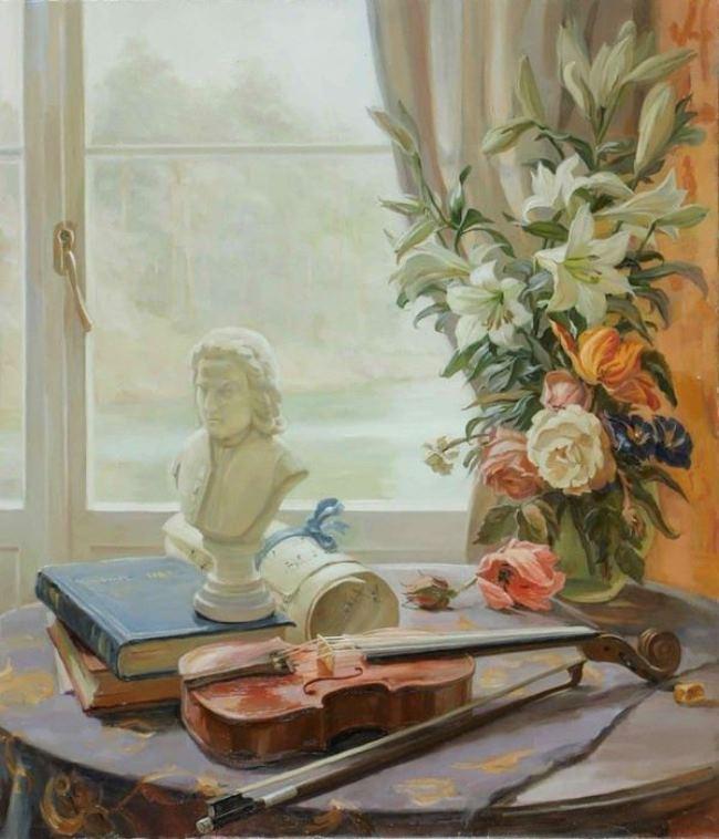 Svyatoslav Vladimirovich Novosadyuk. Still life with a violin