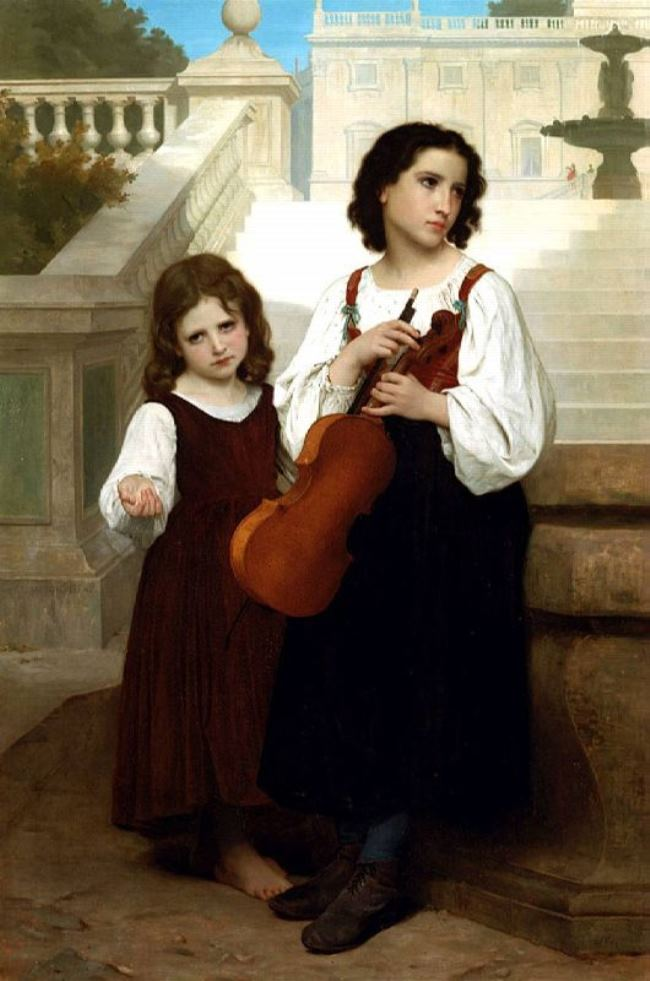 William-Adolphe Bouguereau. Far from home