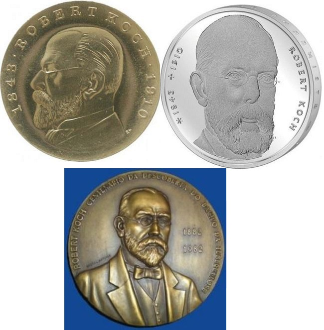Coins dedicated to Koch