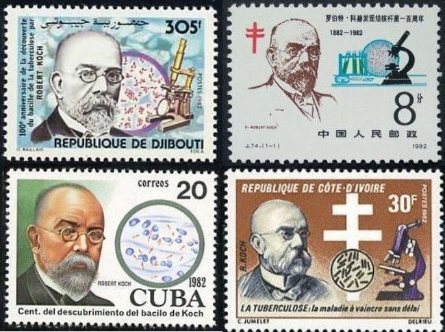 Stamps dedicated to Koch