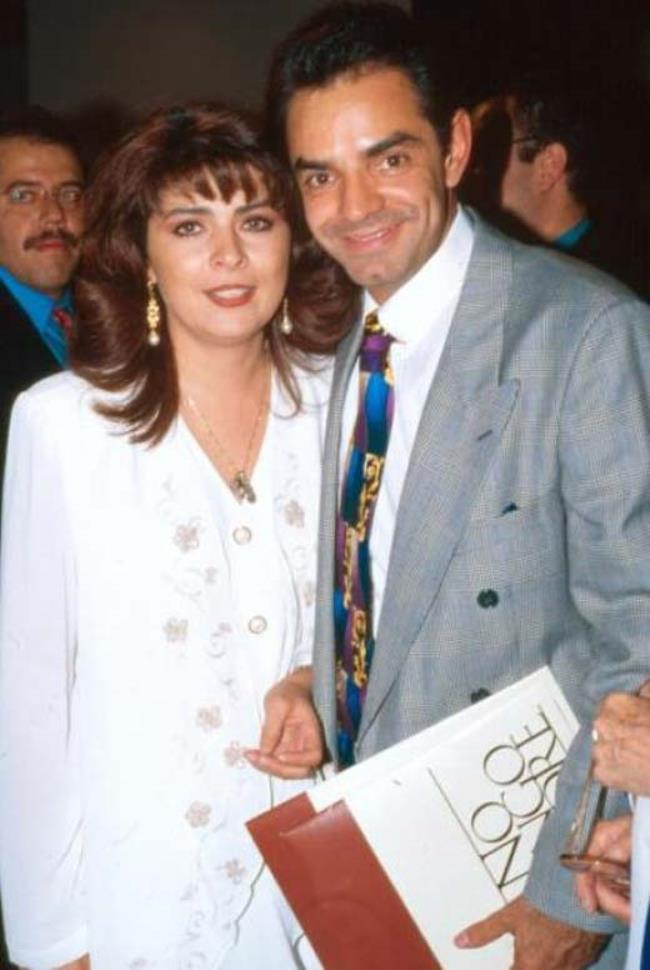 Victoria and Eugenio Derbez